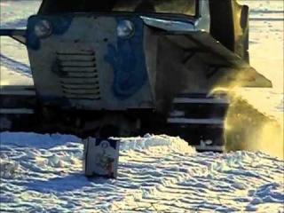 Самодельный снегоход на гусеницах испытание