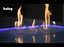 Boley gas fire decorated with crystal glass