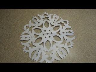 Six Pointed Cutout Paper Snowflake Вырезание снежинок