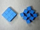 Origami Instructions: Wobbling Wall of Nine Cubes (Heinz Strobl) волшебные кубики из бумаги оригами. Автор: Cара Адамс