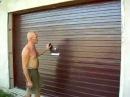 Ворота подъемные гаражные из профнастила