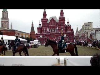 Спасская башня 2012. Казаки на Красной площаде.