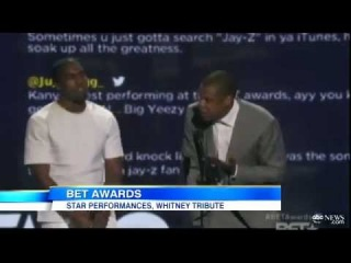 Jay-Z Makes Taylor Swift Joke interrupts Kanye West speech 2012 BET Awards