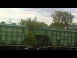 Парень сгорел на крыше товарного поезда