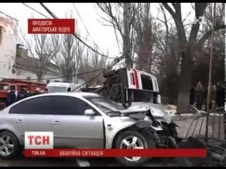 Автомобиль «скорой помощи» попал в аварию в Феодосии