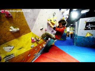 World Cup Climber Dave Barrans - New Purple Circuit (V3-V5)