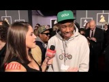 Grammys 2013: Tyler, the Creator Admires Chandeliers, Takes Selfies With Stars