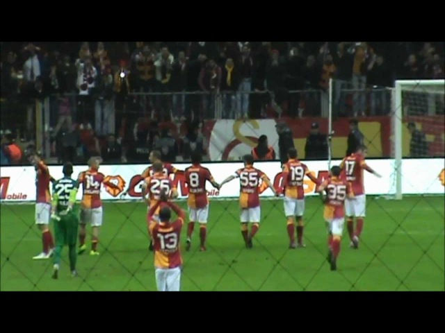 GS-Antalya maç sonu sevinç ve Sabri'nin Üçlüsü