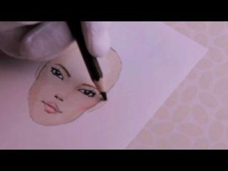 Lesson no.1, P.3 - FACE, Asian Model, Fashion Drawing Урок № 1, с.3 - лицо, азиатские модели, моды рисования
