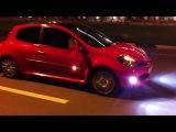 Отжиг резины на Renault Clio Sport 197
