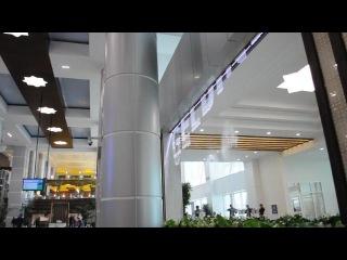 Фонтан в аэропорту города Туркменбаши