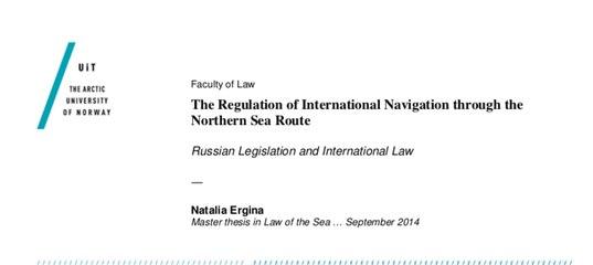 Стена ВКонтакте the regulation of international navigation through the northern sea route natalia ergina 2014 pdf