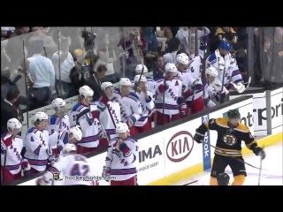 Драка НХЛ: Шон Торнтон - Майкл Рапп / Бостон Брюинз - Нью-Йорк Рейнджерс