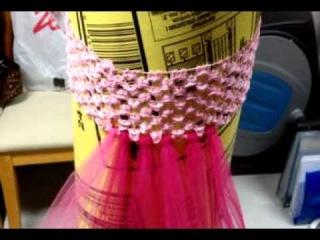 МК как сделать юбку-пачку  на вязаном крючком поясе.