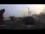 Лобовая авария машины скорой помощи в Новосибирске