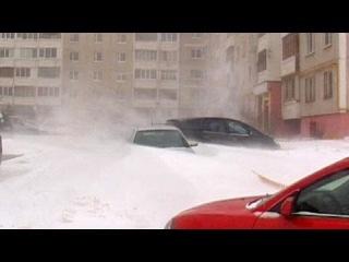 Снежный шторм надвигается на Москву. Март 2013