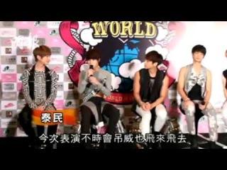 [NEWS] 121027 SHINee Press Conf @ SWC 2 In Hongkong