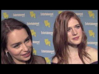 Emilia Clarke and Rose Leslie Interview - Game of Thrones Season 3