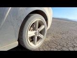 Evo vs Mustang Dry Lake Drifting Alan Szabo Jr. Trex 550E GoPro 3/9/12