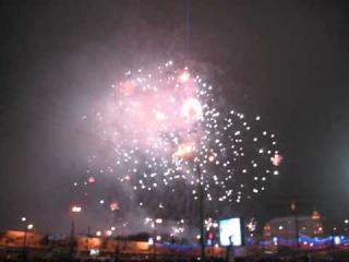 Новый Год 2013 на Красной площади: салют (ч.2)