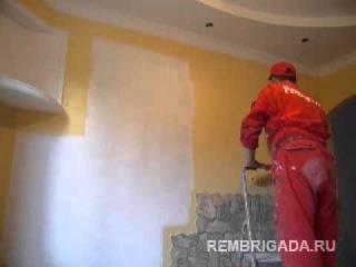 Видео с сайта www.rembrigada.ru покраска стен в квартире