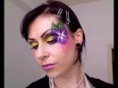 МАСТЕР-КЛАСС по фейс-арту Фиолетовый цветок