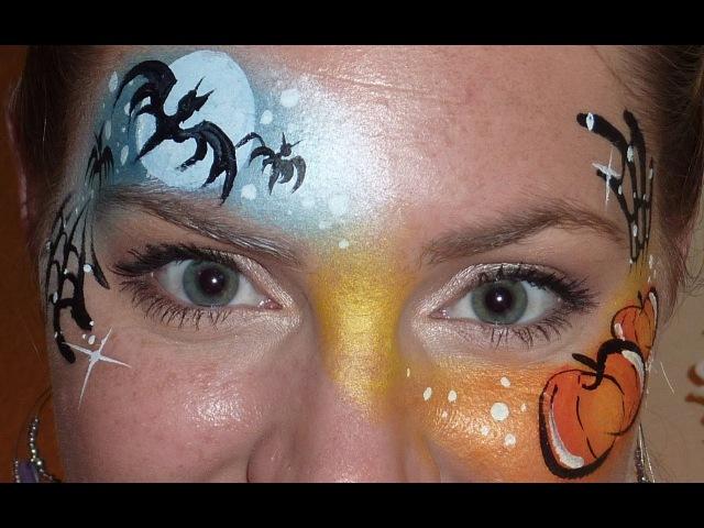 МАСТЕР-КЛАСС по аквагриму на Хэллоуин - День и Ночь