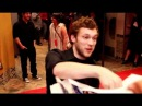 Phillip Phillips winner of American Idol interacts with fans at The Amazing Spiderman Premiere