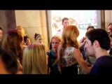 Bella Thorne star of Shake It Up & Dani Thorne leave the premiere of Odd Life Of Timothy Green