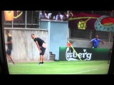 ЕВРО 2012, тренировка Шведов, проиграл, получи в зад )