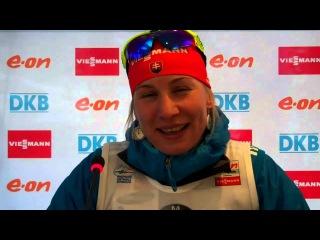 Анастасия Кузьмина после спринта 17.01.2013