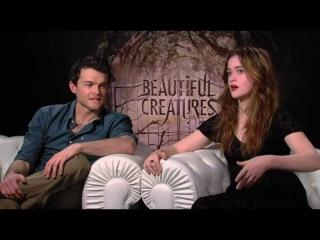 Beautiful Creatures - Alden Ehrenreich & Alice Englert Generic Interview