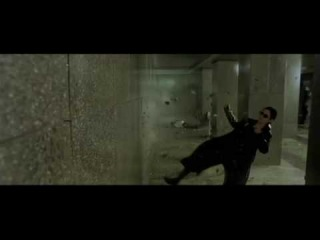 Matrix Reloaded Shoot out scene- Trinity and Neo Must save Morpheus