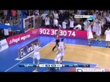 Unbelievable three point shootout from Marcelinho Huertas and Barcelona Win the 1st Final