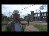 На строительстве стадиона Спартак