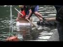 Soap Kayak Race 2011 - Imbersago - Addajet vince la sfida di canoe di cartone