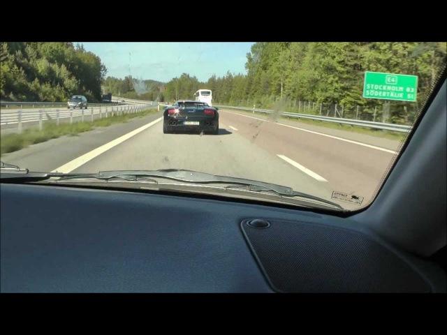 Volvo S40 T4 Autotech 420hp vs Lamborghini Gallardo LP550-2 Tricolore