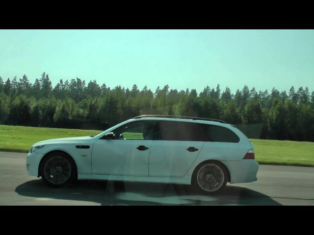 Volvo S40 T4 Autotech 420hp vs BMW M5 Touring 540hp