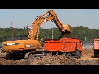 Экскаватор Case CX350B копает
