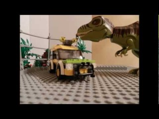 lego t-rex attack