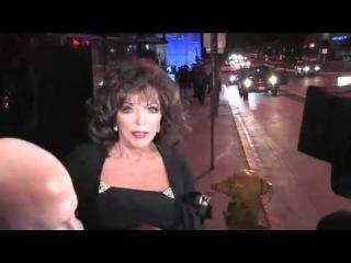 Hollywood Icon Joan Collins Leaving Boa Steakhouse