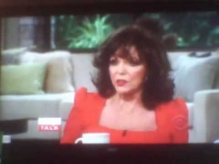 Joan Collins on The Talk-01-23-2013
