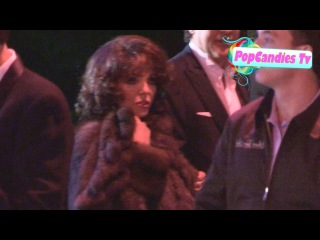 Joan Collins & Jackie Collins depart 2013 Vanity Fair Oscar Party in WeHo