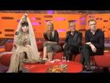 Gaga vs Madonna on the Graham Norton Show receiving fan made dolls.