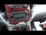 Установка yatour (снятие магнитолы) - Toyota Highlander 2001-2007 install of iPhone, iPod, iPad and AUX adapter