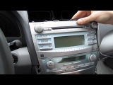 Установка yatour (снятие магнитолы) - Toyota Camry 2007-2011 install of iPhone, Ipod and AUX adapter for factory stereo