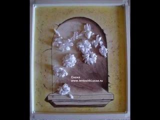 Мастер-класс ВЫШИВКА ЛЕНТАМИ-Ribbon embroidery Цветы в окне