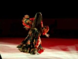 Гран При Москва2009 Юля Синицина Цыганка Кармелита. Танец цыганочка.