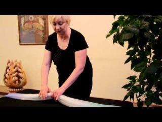 Уроки по завязыванию платков (съемка Айсин)