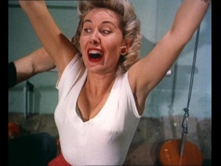 1950s Actress has a Thing for Muscle Men!